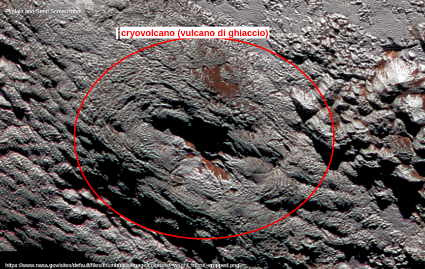 criovulcano gigante su plutone