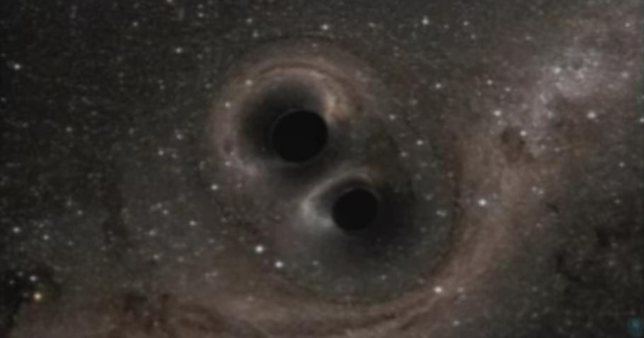 La collisione dei 2 buchi neri