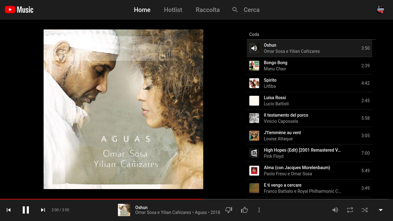 YouTubeMusic-app on desktop – su linux.
